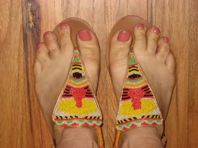 Matisse Beaded Tribal Sandals